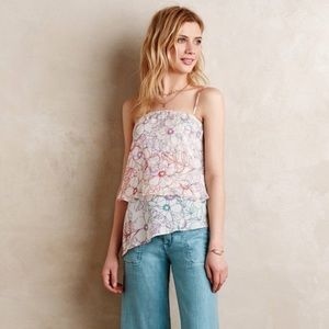 Maeve silk floral layered top
